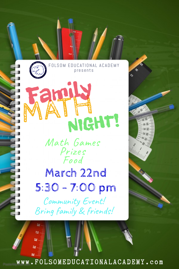 Math Night Flyer 2018-2019