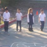 Amazing Athletes program with Kindergarten class